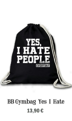 GYM-BAG Yes i hate People
